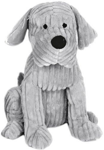 Carousel Home Take me Home-Fermaporta a forma di cane, tessuto a coste, 28cm, colore grigio