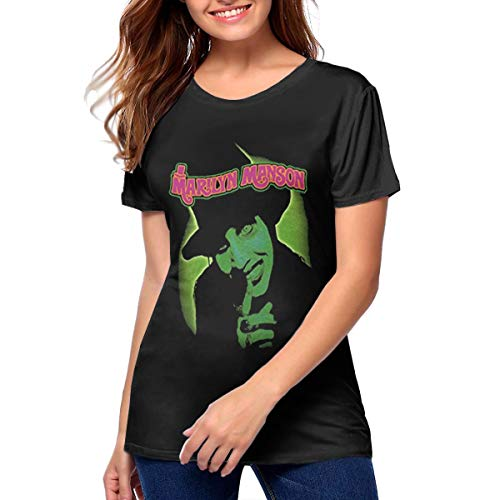 Yqgtsdfhgf Marilyn Manson T Shirt Printed Shirt Basic Shirt Women 〠Black -