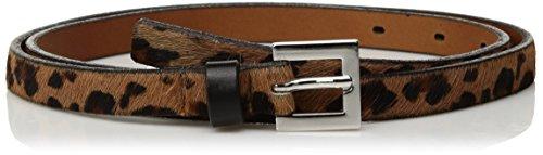 [해외]여성용 스키니 레오파드 프린트 헤아 카프 벨트/Circa Women\u2019s Skinny Leopard Printed Haircalf Belt