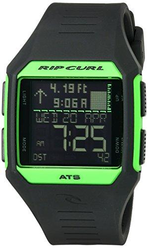 Rip Curl Men's 'Rifles Midsize Tide' Quartz Plastic and Polyurethane Sport Watch, Color:Black (Model: A1124-FGR)