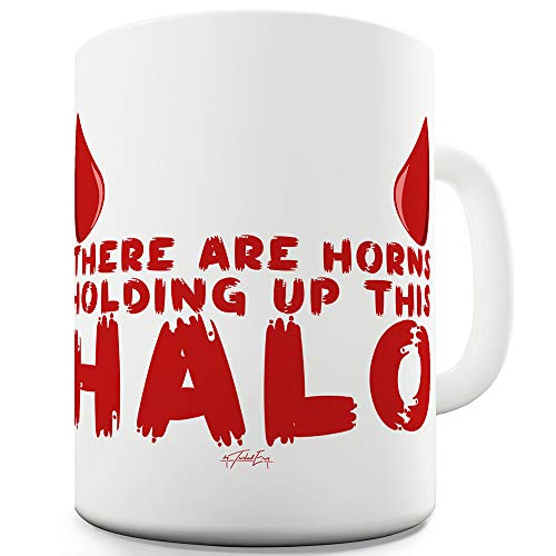 Holding Up This Halo 15 OZ Funny Novelty Mug Cup ()