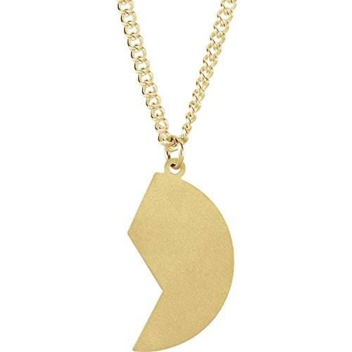 14k Yellow Gold 26x14mm Right Polished Mizpah Coin Pendant