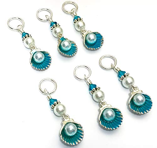 (Seashell Stitch Marker Charm Set for Knitters)