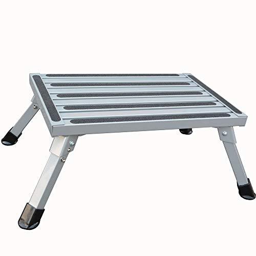 (TUOGAO Portable Rv Step Stools Aluminum Folding Platform Step with Non-Slip Rubber Feet, 1000Ibs Capacity)