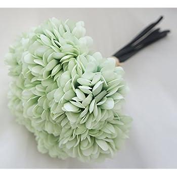 Amazon lily garden silk chrysanthemum ball 7 stems flower lily garden silk chrysanthemum ball 7 stems flower bouquet mint mightylinksfo