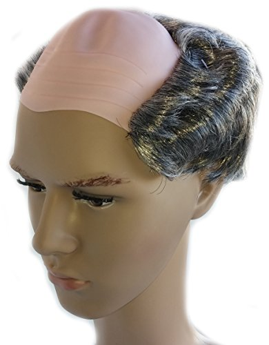 [Balding Grey Salt and Pepper Costume Wig for Men] (Old Wigs)