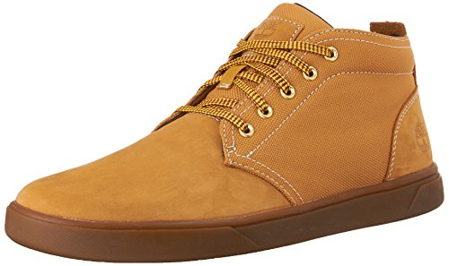 Timberland Men's Groveton Leather Fabric Chukka Boot, Wheat Nubuck, 8 M US