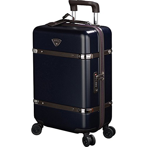 Jump Cassis Hardside Carry-on Spinner Suitcase (Navy) by Jump