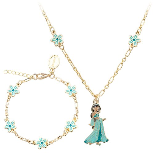 Disney Store Princess Jasmine Costume Jewelry Necklace and Bracelet Set