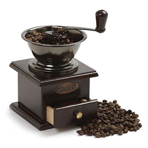 Norpro New Vintage Fancy Hand Crank Coffee Grinder Warm Durable Chestnut Finish