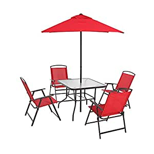 Pilares Albany Lane - Set de asiento plegable: Rojo: Amazon ...