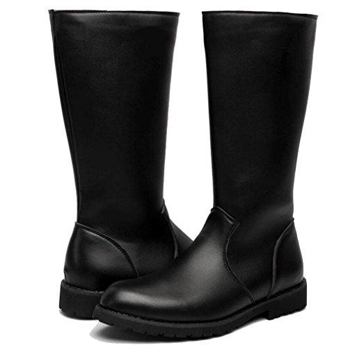 stivali Martin alti da 41 lunghi scarpe grandi dimensioni stivali da WSK locomotiva pelle Stivali cowboy in stivali impermeabili uomo punk di UqRwOFa5