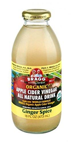Bragg Organic Ginger Spice Apple Cider Vinegar Drink,16 Ounce - 12 per case.