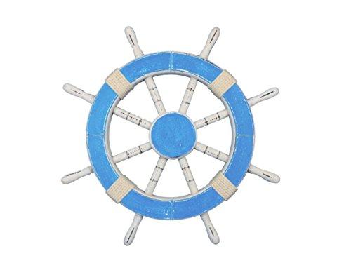 Hampton Nautical Rustic Decorative Ship Wheel, 18