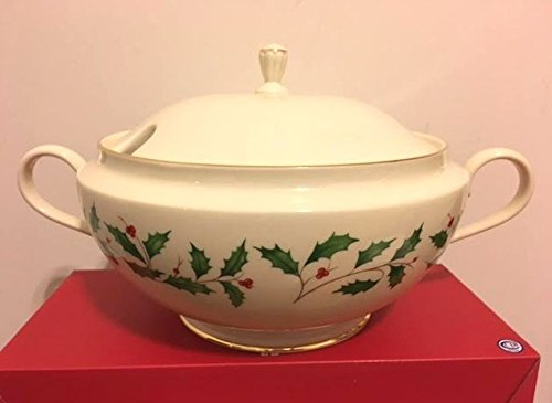 - Lenox Holiday Gold Soup Tureen with Lid Made in USA