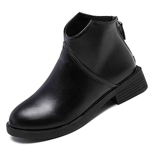 Black 5.5 US Black 5.5 US Women's Fashion Boots PU(Polyurethane) Winter Casual Boots Low Heel Booties Ankle Boots Black