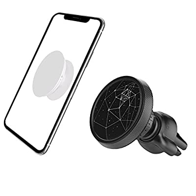 Magnetic Car Mount for Pop Socket Users [Sturdy Twist Lock], Air Vent Cell Phone Holder for iPhone X 8 Plus 7 6S 6 5S SE, Samsung Galaxy S9 S8 S7 A9 A8 A7 A5 C8 C7 C5 J7 J5 J2 Note 8, Android Phone