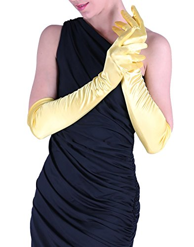 Cyndi Lauper 1980s Costume (HDE Womens Long Satin Gloves Shiny Adult Size Costume Opera Party or Dance Wear)