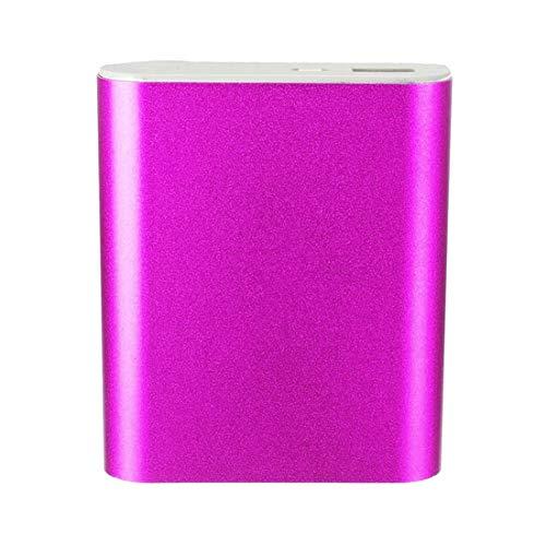 MaNMaNing 5V 1A USB 4X 18650 Power Bank Case Kit Cargador de Batería DIY Box para Teléfono Inteligente (-Rosa)