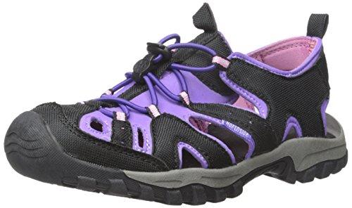 Northside Burke II Athletic Sandal,Black/Purple,7 M US Toddler