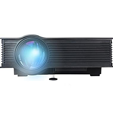 ERISAN Updated UC40+ Full Color 130  Image Pro Mini Portable LCD LED Home Theater Cinema Game Projector - Support HD 1080P Video /IP/IR/USB/SD/HDMI/VGA