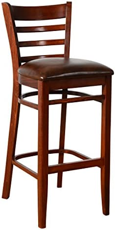 Beechwood Mountain BSD-5B-MO Solid Beech Wood Bar Stool in Medium Oak for Kitchen and dining