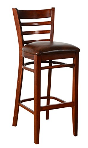 - Beechwood Mountain BSD-5B-MO Solid Beech Wood Bar Stool in Medium Oak for Kitchen and dining