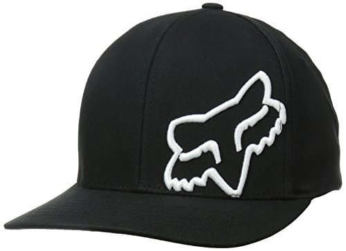 Racing Flex Fit Cap - Fox Men's Flex 45 Flexfit HAT, Black/White, Small/Medium