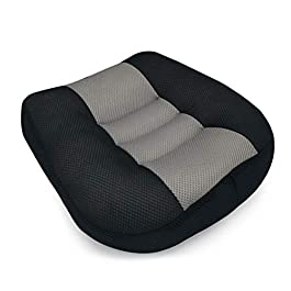 Car Seat Cushion, Heightening Height Boost Mat Portable Breathable Mesh, Seat booster, Ideal For Car Office,Home, Used All The Year,Black