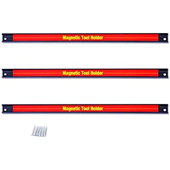NEW MAGNETIC TOOL HOLDERS 3 PIECES 8in 12in 18in WALL MOUNTABLE TOOL STORAGE