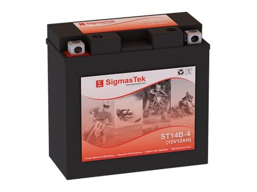 12 Volt 12 Amp Hour Sealed Lead Acid Battery Replacement with NB Terminals by SigmasTek ST14B-4