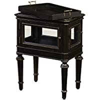 Pulaski Javan Accent Table, 20 by 27.5 by 14-Inch, Black