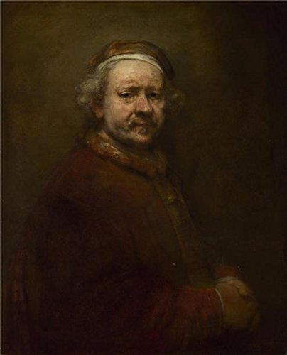 Oil Painting 'Rembrandt Harmenszoon Van Rijn-Self Portrait At The Age Of 63,1659' 30 x 37 inch / 76 x 94 cm , on High Definition HD canvas prints is for Gifts And Bar, Bath Room And Garage Decoration