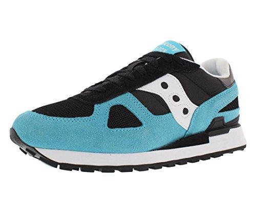 Saucony Originals Men's Shadow Original Classic Retro Sneaker, Black/Blue, 8 M US SHADOW ORIGINAL-M