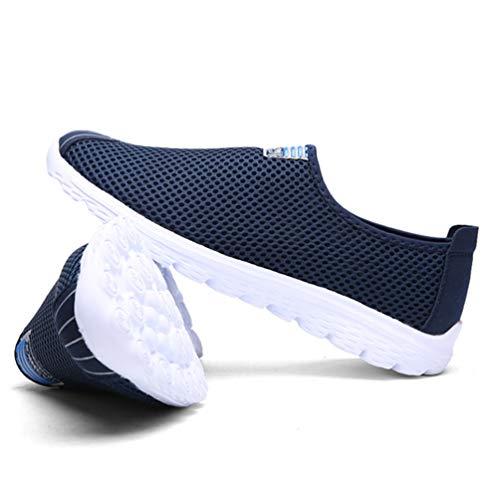 Azul De Casuales Masculinos Zapatos Los Hombres Mocasines Ligeros Malla Transpirable qUzppOT