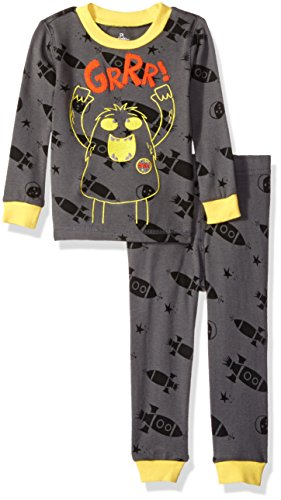 Petit Lem Boys' Spaceship 2 Piece Pajama Set, Gray, 18M ()