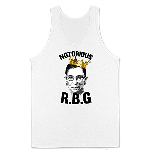 Pop Threads Notorious R.B.G. Funny White L Mens Tank Top