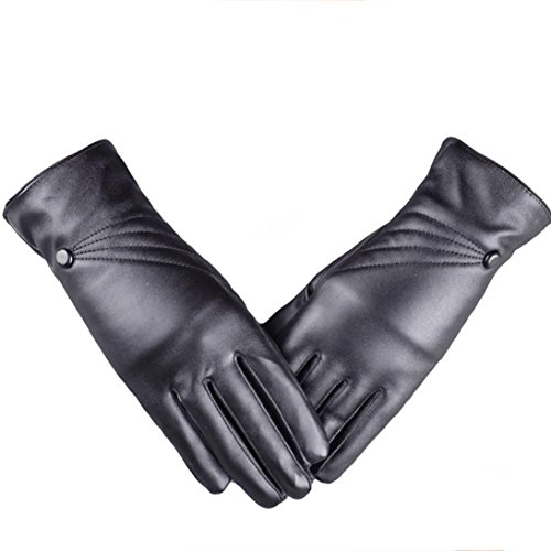 Gloves,NOMENI Women Girl Leather Winter Super Warm Gloves Cashmere - Kid Leather Driving Gloves
