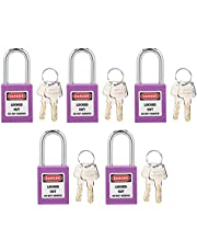 Lockout Tagout Locks, Lock Out Tag Out Hangsloten 5 Sets 38 mm slijtvast voor fabriekscentrale voor machinebouw beveiliging
