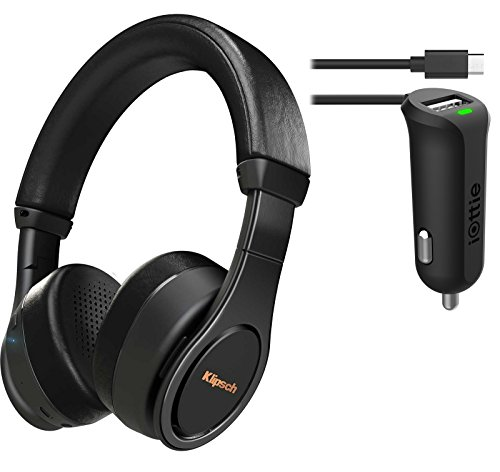 Klipsch Reference On-Ear Bluetooth Headphone (Black) Bundle & iOttie Car Charger