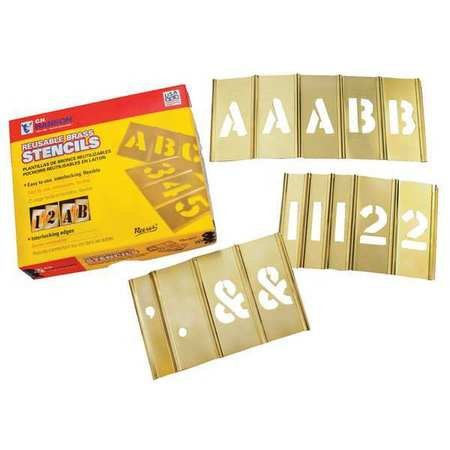 3 inch Stencil Let. & Num. 92 pc Set