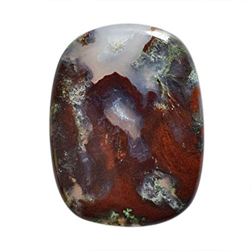 RAVISHINGGEMS 100% Rare Moroccan Apple Valley Agate Cabochon, Size 29x22x4.5 MM Jewellery Making, Loose Gemstone, Stone for Pendnat 19880 ()