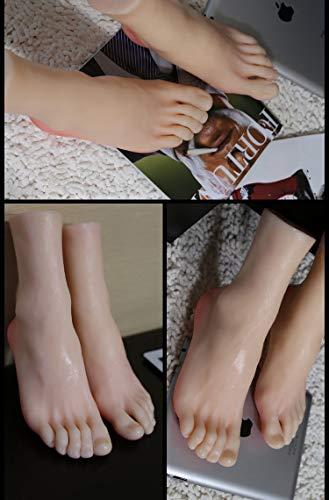 FidgetFidget A Pair Realistic Silicone Male Feet Shoes Displays Model Mannequin Size 43 h012 by FidgetFidget (Image #6)