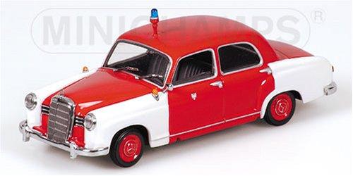 Minichamps 1/43 scale 430 033190 Mercedes Benz 180 1956 Feuerwehr Frankfurt B000DZRS0C