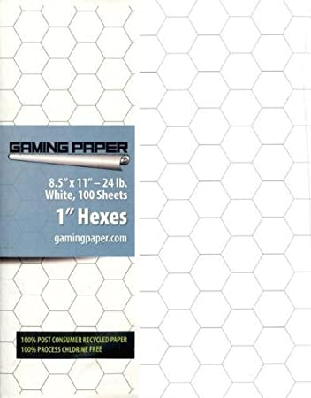 Amazon.Com: Gaming Paper 1 In. Hex Singles: Toys & Games