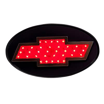 Reese Towpower 86062 Licensed LED Hitch Light Cover with Chevy Bow Tie Logo,Chrome Finish: Automotive