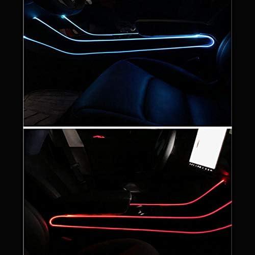 Domilay/Auto 7 Farbe LED Innenraum Atmosph/äRen Licht Refit Zentral Steuerung Dekoratives Atmosph/äRen Licht f/ür Tesla Modell 3
