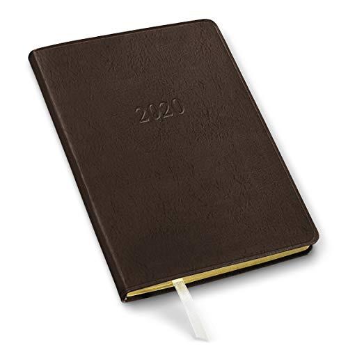 2020 Gallery Leather Desk Weekly Planner Freeport Mocha 8