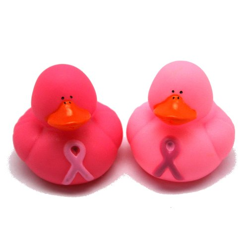 Pink Duck - Vinyl Pink Ribbon Rubber Duckies (12 Pack) 2