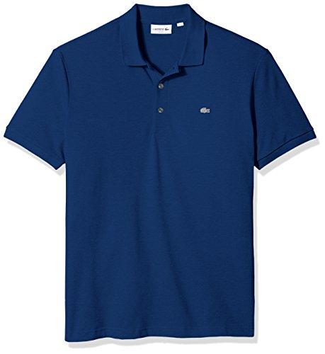 (Lacoste Men's Short Sleeve Slim Fit Stretch Petit Piqué Polo, Marino, XXX-Large)
